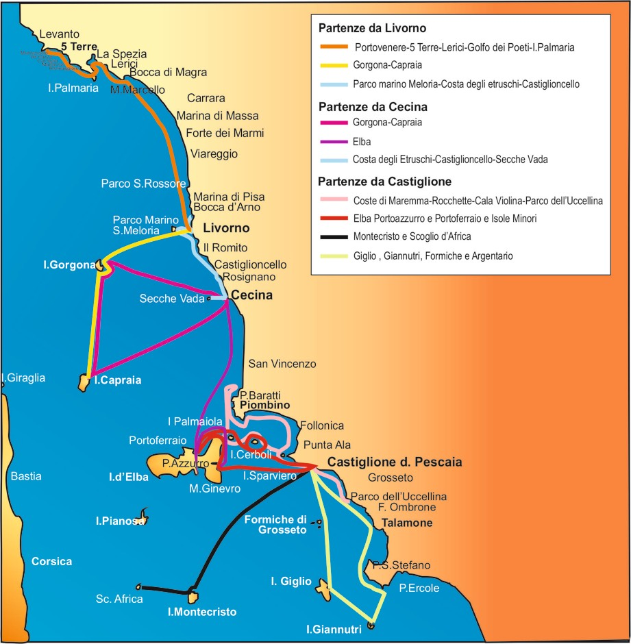 base x linee marittime 2-rotte arcipelago-costa